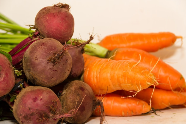 Variety of vegetables grown in the organic garden Premium Photo