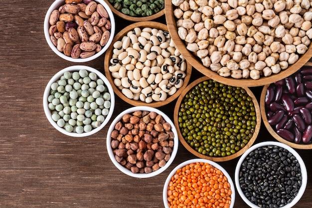 Various assortment of indian legumes Premium Photo