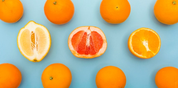 Various citrus fruit delicious in the summer Free Photo