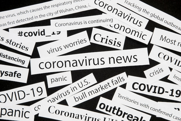 Various coronavirus newspaper head titles Free Photo