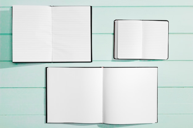 Various designs for copy space empty notebooks Free Photo