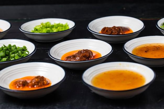 Various flavor sauces Premium Photo