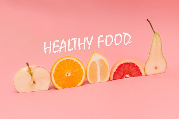 Various fresh fruits and vegetables for eating healthy Premium Photo