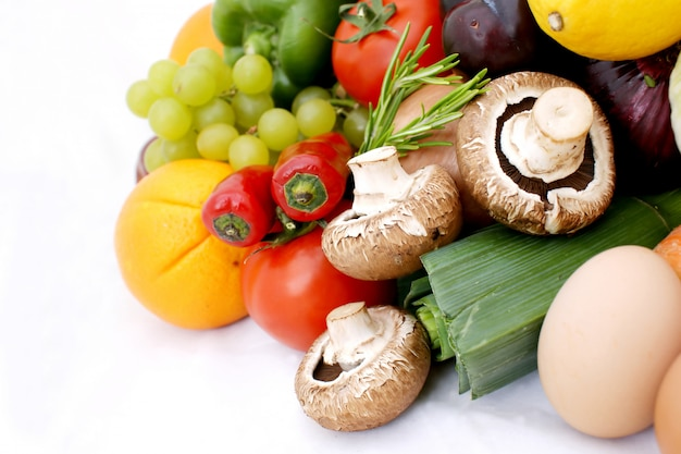 さまざまな果物と野菜 無料写真