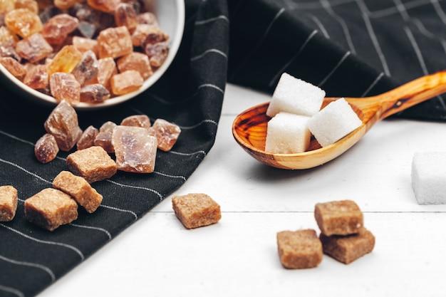 Различные виды сахара Premium Фотографии