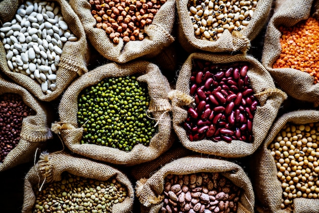Various of legumes Free Photo