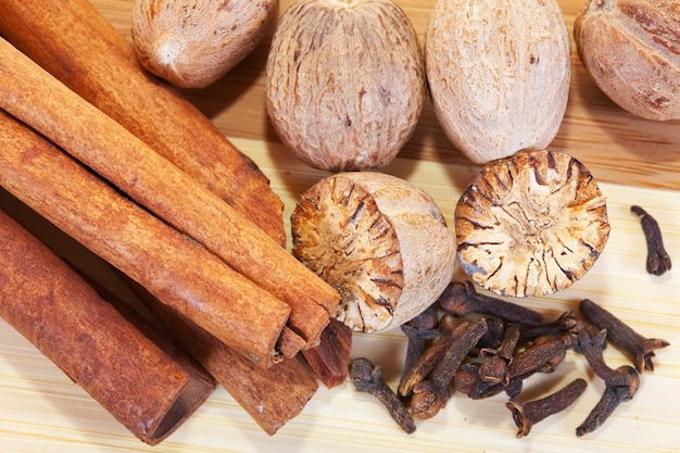 Various natural spices Free Photo
