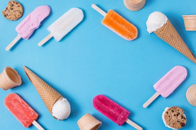 Различная структура мороженого Бесплатные Фотографии