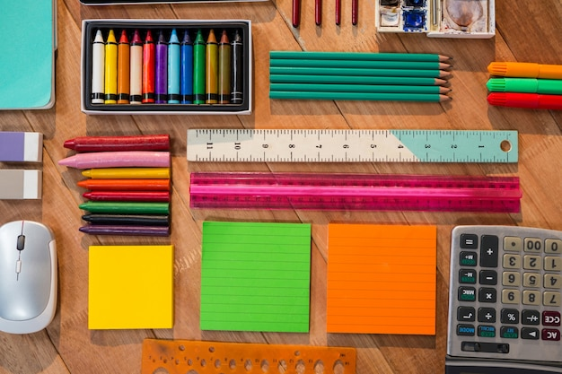 Various types of stationery Free Photo
