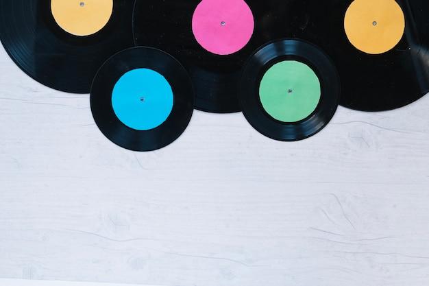 Various vinyl discs  Free Photo