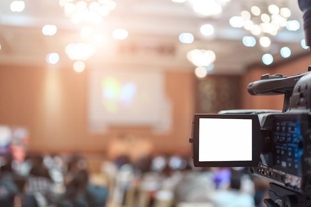 Vdo camera in conference room for profession Premium Photo