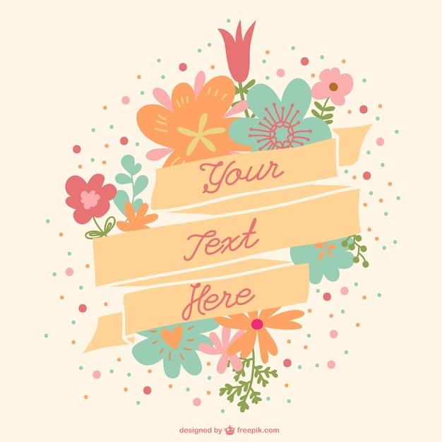 Banner Wedding Vector Vector Floral Banner Free