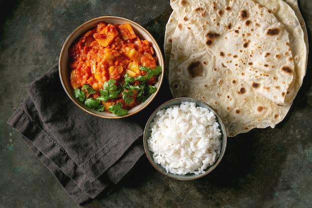 Vegan jackfruit curry Premium Photo