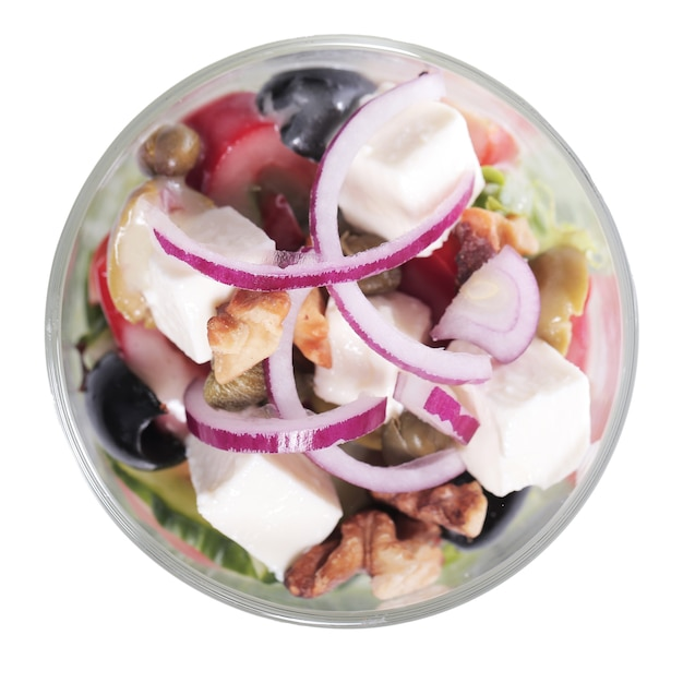 Салат из овощей и сыра в чашке Бесплатные Фотографии