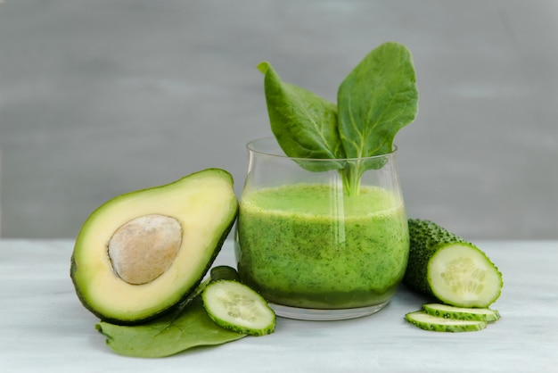 Premium Photo Vegetables For Detox And Weight Loss Green Smoothies Avocado