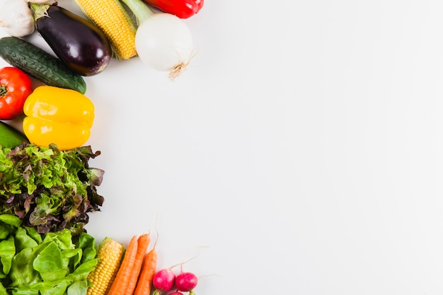 Vegetables and space on right Free Photo