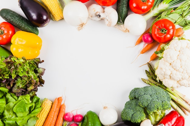 Vegetables with circular space Free Photo