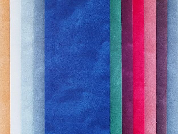 Velvet color swatch Premium Photo