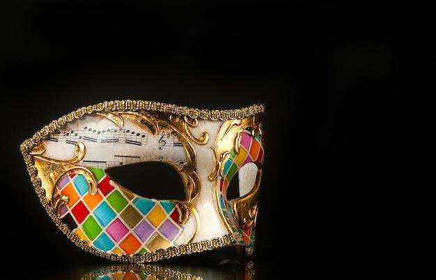 Venetian mask harlequin style Premium Photo