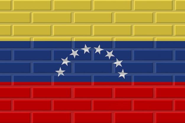 Венесуэла кирпичный флаг иллюстрация Premium Фотографии