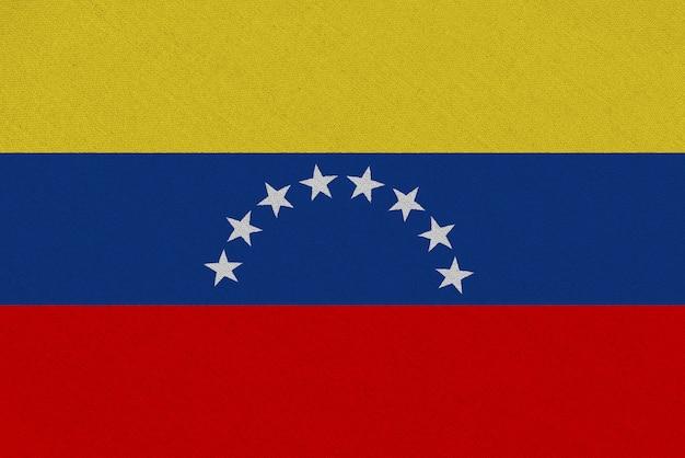 Венесуэла тканевый флаг Premium Фотографии