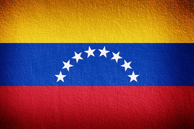 Venezuela flag on the old wall texture Premium Photo
