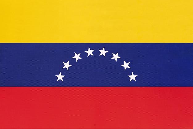 Венесуэла национальный флаг ткани Premium Фотографии