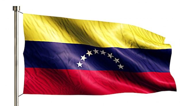 Venezuela national flag isolated 3d white background Free Photo