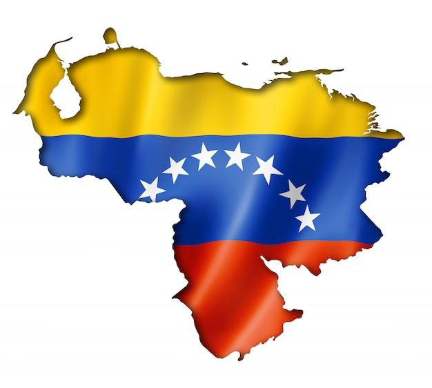 Карта венесуэльского флага Premium Фотографии