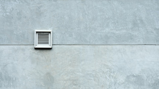 Ventilation system at cement wall Premium Photo