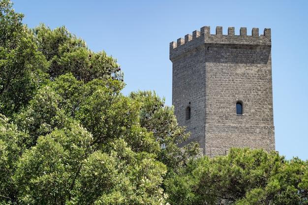 Venus castle in erice, province of trapani in sicily Premium Photo