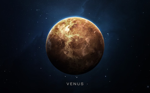 Venus in the space, 3d illustration. . Premium Photo