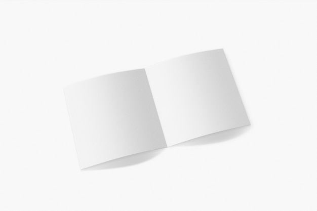 흰색 배경에 고립 된 세로 책자 프리미엄 사진