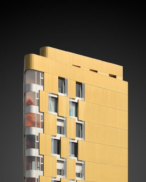 黒に黄色の構造の垂直方向の図 無料写真