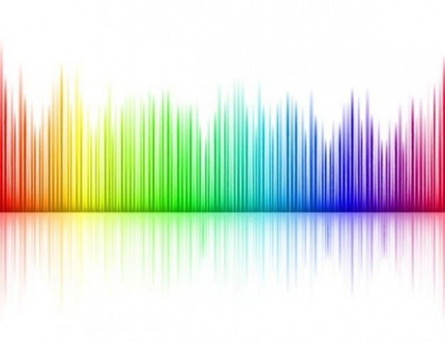 Vertical lines in rainbow colors