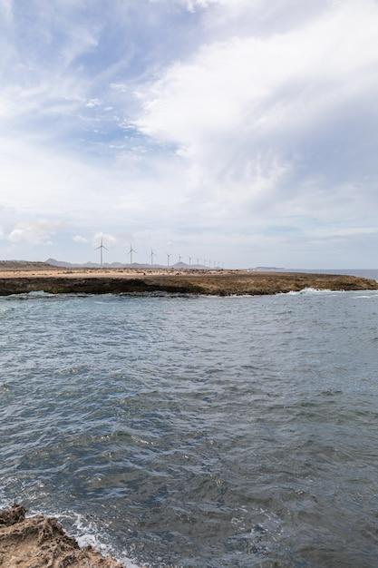 Colpo verticale di angolo basso dell'oceano nel bonaire, caraibico Foto Gratuite