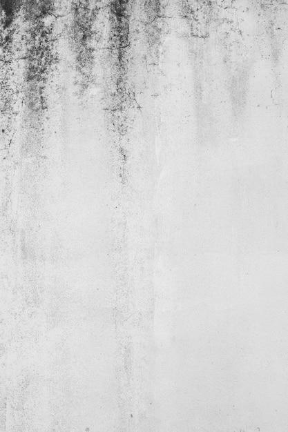 더러운 흰 콘크리트 벽의 세로 샷 무료 사진