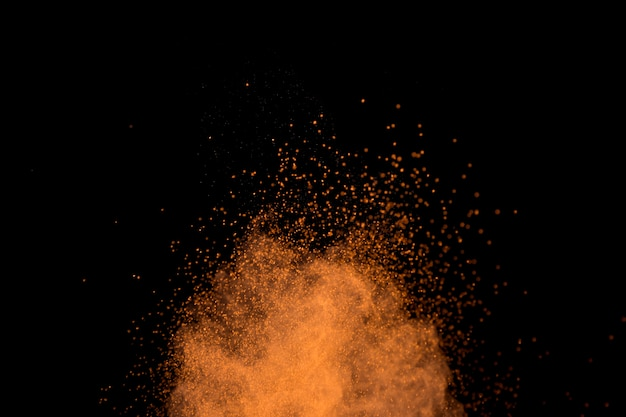 Vibrant cloud of colorful powder particles Free Photo