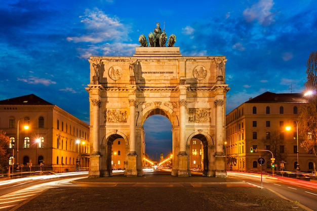 Victory gate, munich Premium Photo