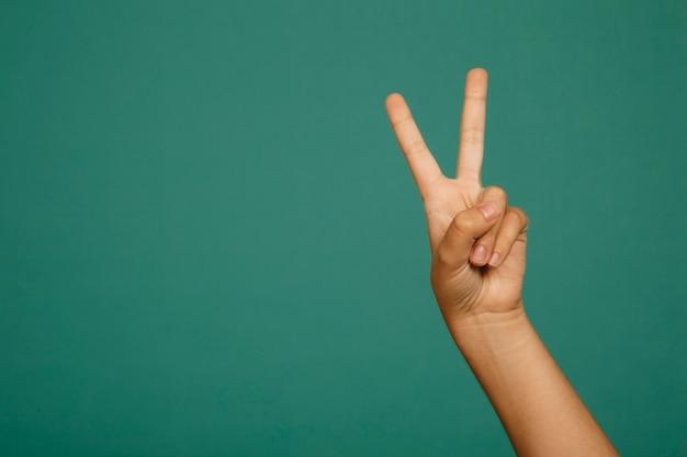 Gesto della mano di vittoria Foto Gratuite