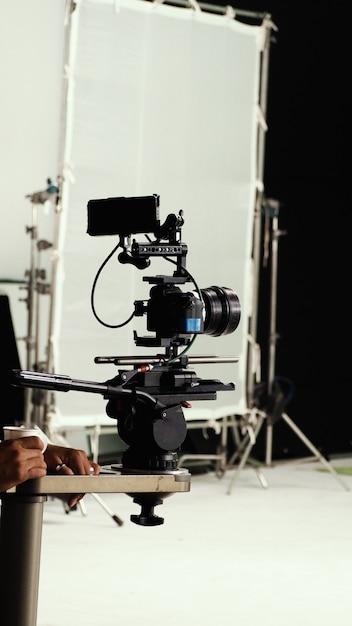 三脚のビデオカメラ Premium写真
