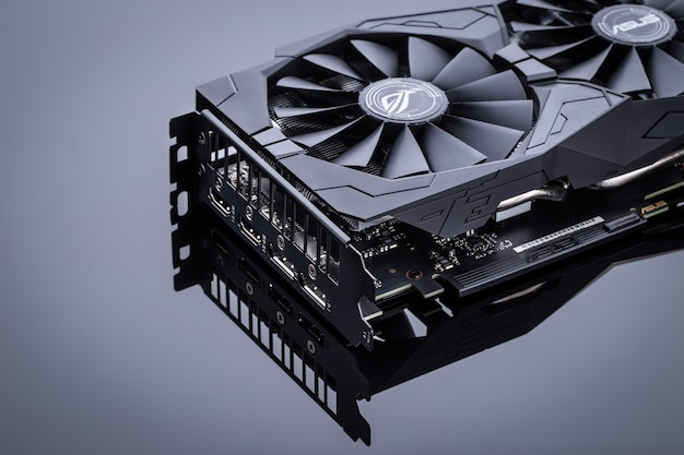 Video card for computer. Premium Photo