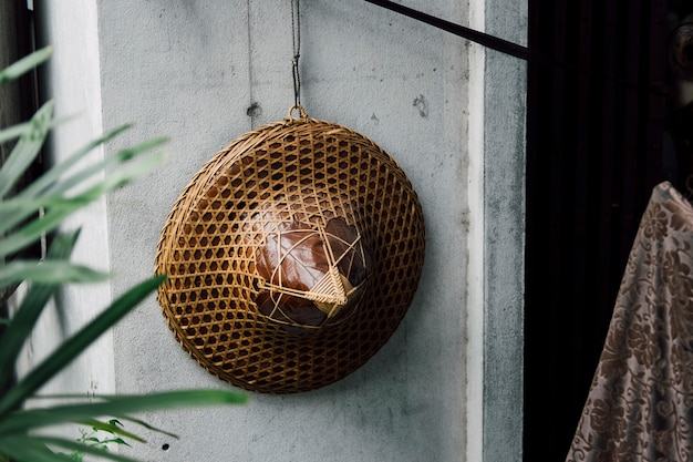 Vietnam hat hanging on the wall Free Photo