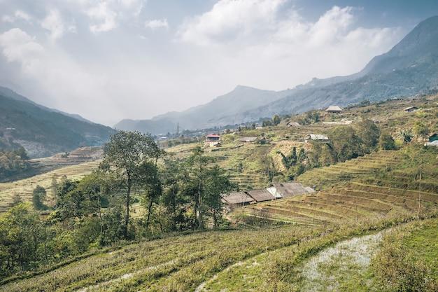 Paesaggio vietnamita a sa pa Foto Gratuite