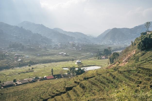 Vietnamese landscape in sa pa Free Photo
