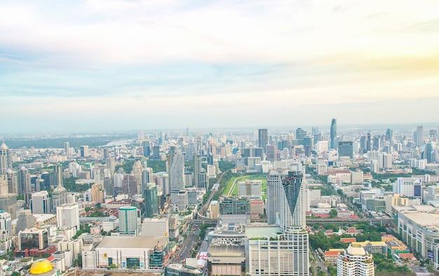 View of bangkok big city from high angle Premium Photo