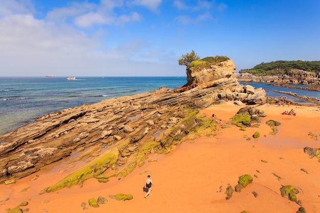 View of camel beach in santander Premium Photo