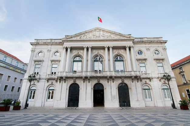 View of the city hall building located in lisbon, portugal. Premium Photo