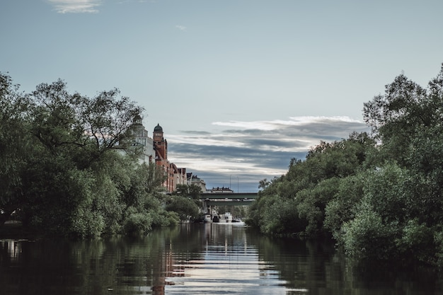 View of the cityscape. landscapes of stockholm, sweden. Free Photo
