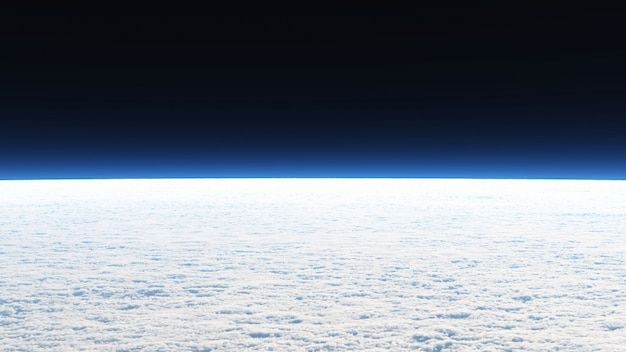 View on the cloud wallpaper in landscape and space scene. Premium Photo